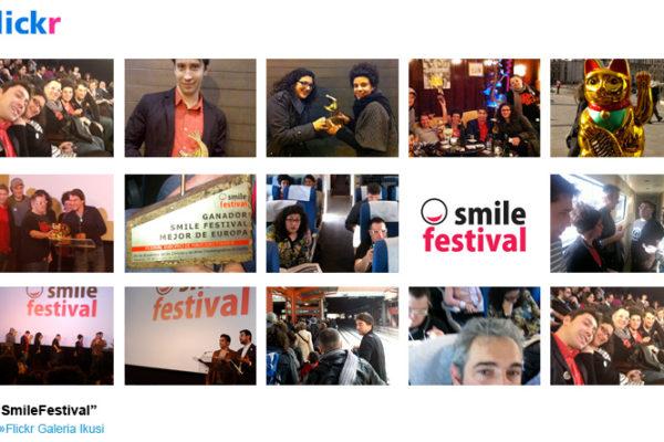 Entrega de premio a la Mejor Web en el Smile Festival