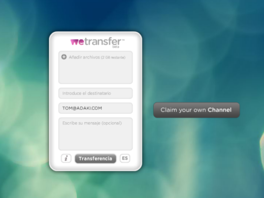 WeTransfer, fitxategien doako transferentzia