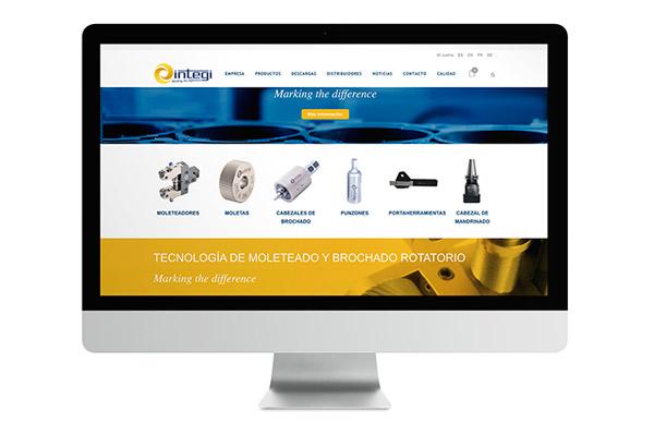 E-commerce de Integi para el sector máquina herramienta
