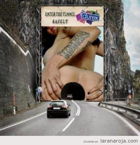 Imágenes de sexo en publicidad.