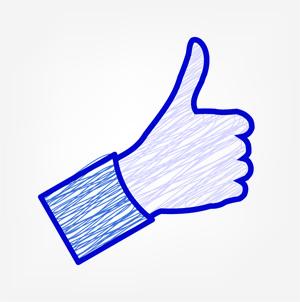 "Imagen ""Like"" de redes sociales."