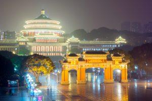El Gran Palacio del Pueblo de Chongqing.