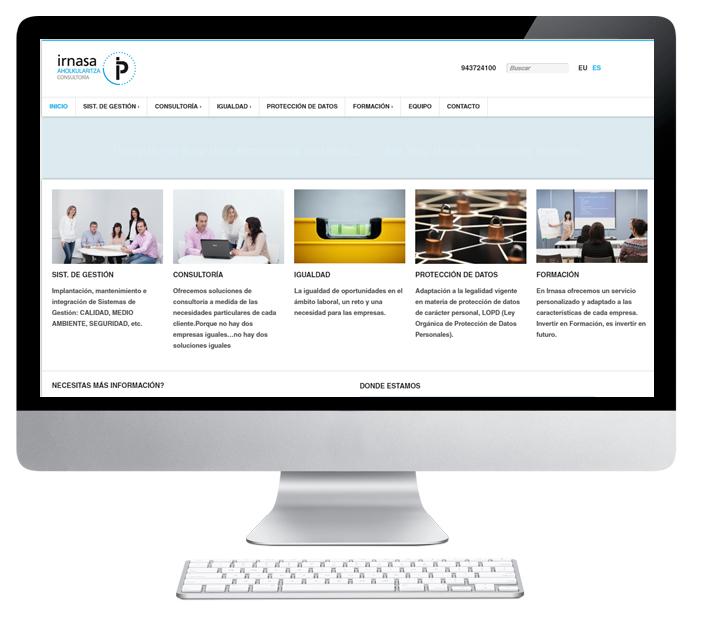 web de Irnasa desarrollada por Adaki