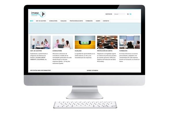Desarrollamos web para Irnasa