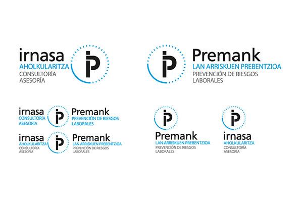 Estructura de marca de la empresa Irnasa y Premank.