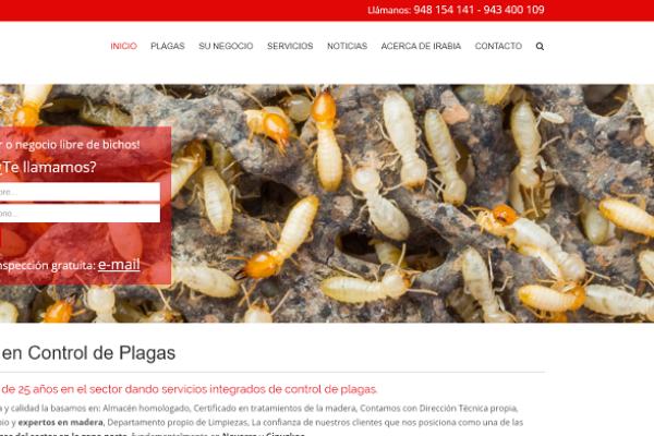 """""""Irabia Control de Plagas"""" webgunea"""