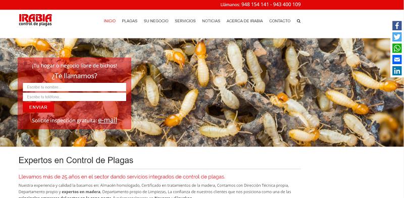 Web Irabia Plagas