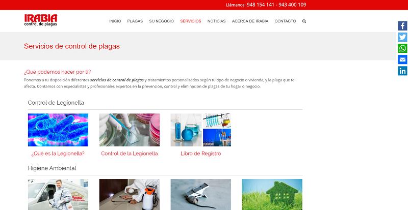 Web Irabia Plagas - Plagas