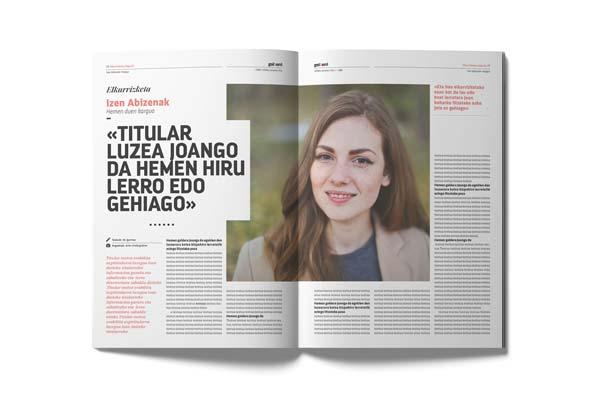 Diseño de la revista Goiberri