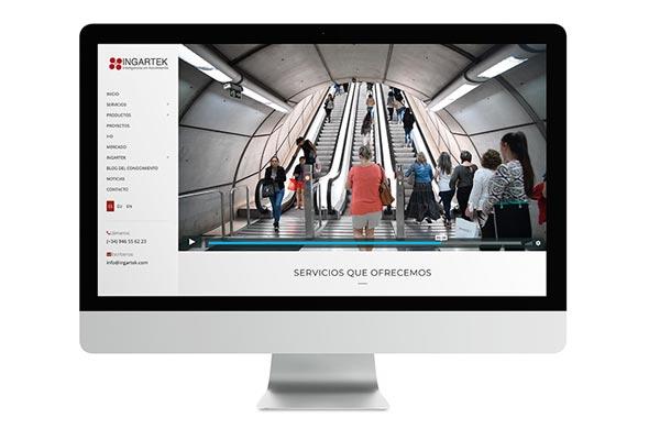 Web Ingartek, consultora movilidad transporte y urbanismo