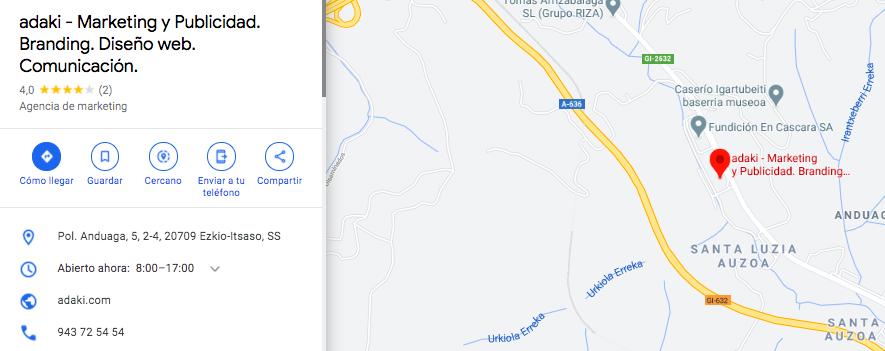 google maps adaki