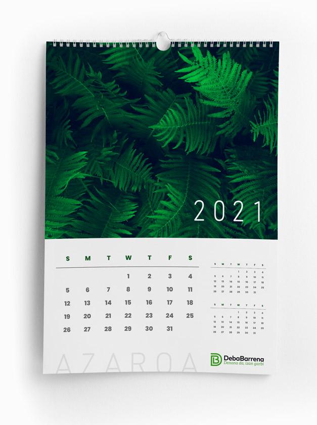 Calendario corporativo de la marca